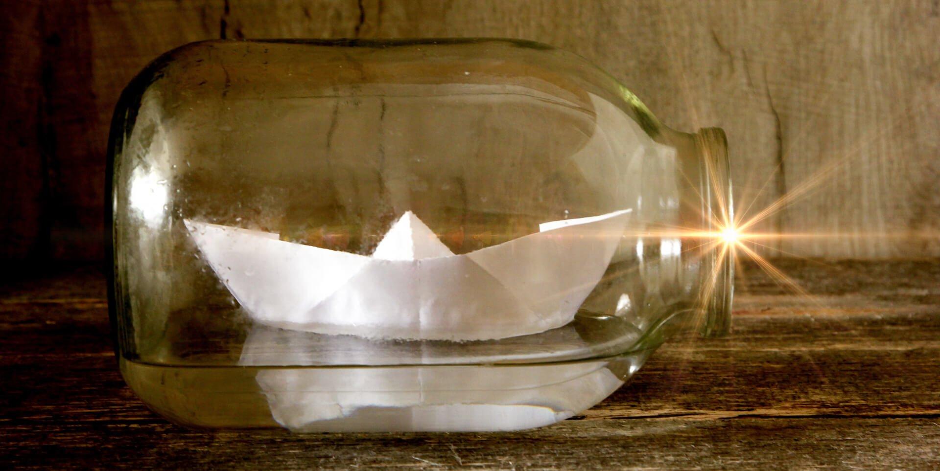paper in a bottle